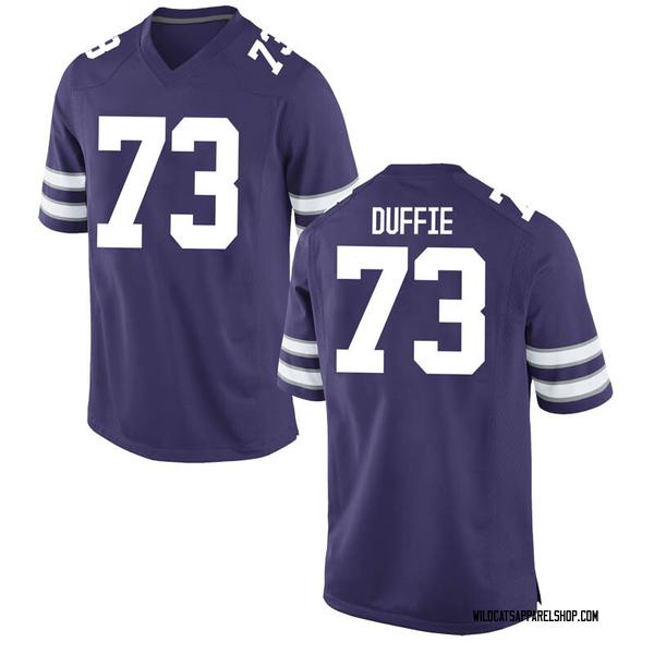 Men's Christian Duffie Kansas State Wildcats Nike Game Purple Football College Jersey