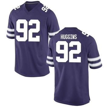 Men's Eli Huggins Kansas State Wildcats Nike Game Purple Football College Jersey