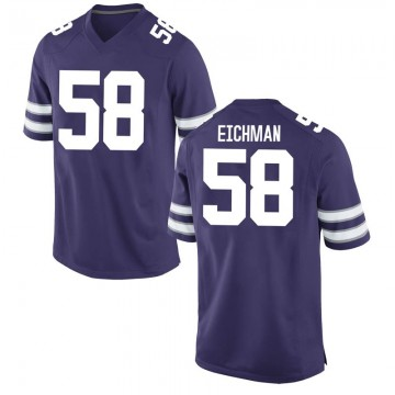 Men's Justin Eichman Kansas State Wildcats Nike Replica Purple Football College Jersey