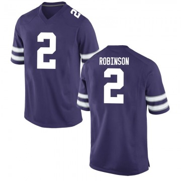 Men's Lance Robinson Kansas State Wildcats Nike Game Purple Football College Jersey