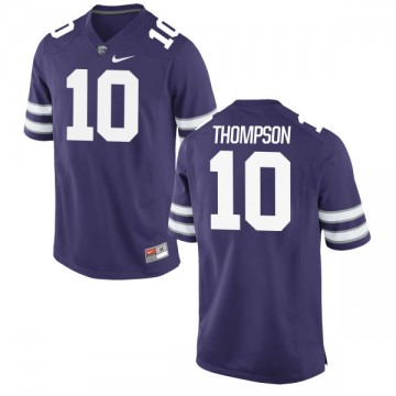 Men's Skylar Thompson Kansas State Wildcats Authentic Purple Football Jersey -