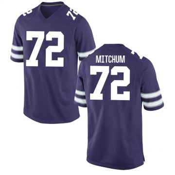 Men's Witt Mitchum Kansas State Wildcats Replica Purple Football College Jersey