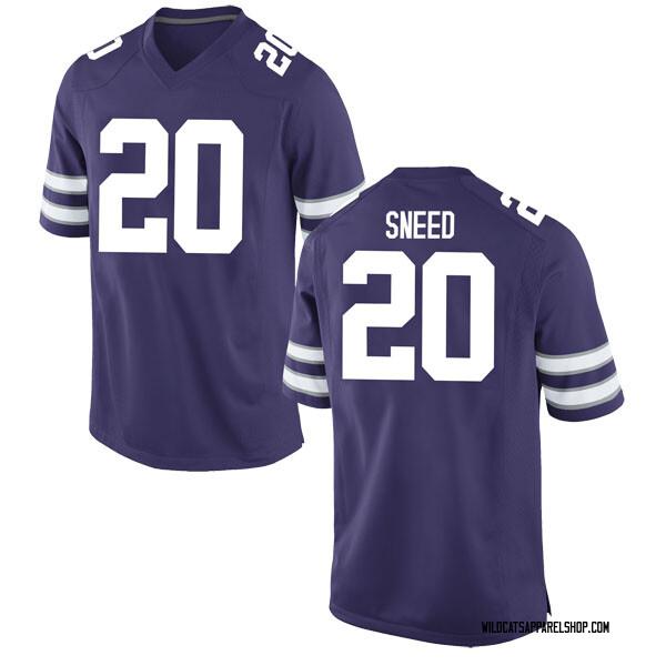 Men's Xavier Sneed Kansas State Wildcats Nike Game Purple Football College Jersey