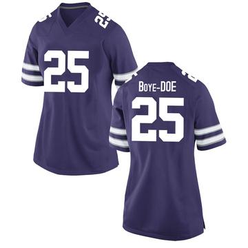 Women's Ekow Boye-Doe Kansas State Wildcats Nike Game Purple Football College Jersey