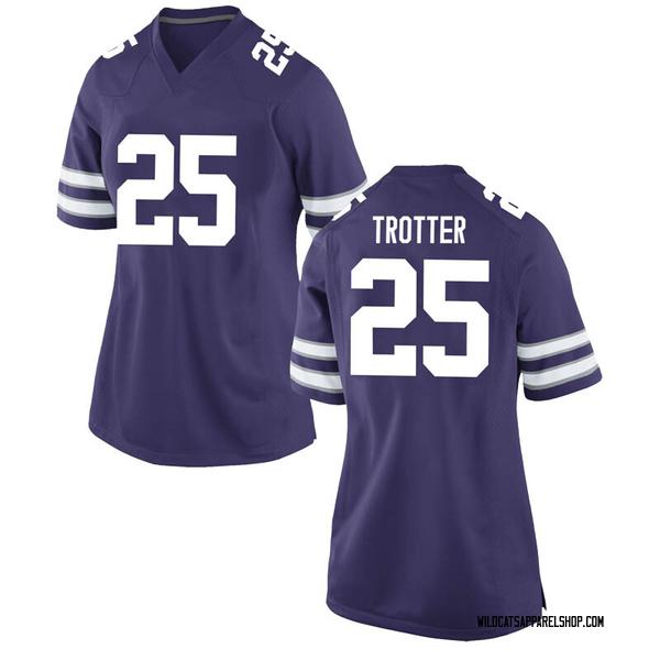 Women's Harry Trotter Kansas State Wildcats Nike Replica Purple Football College Jersey