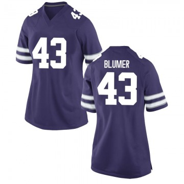 Women's Jack Blumer Kansas State Wildcats Nike Replica Purple Football College Jersey