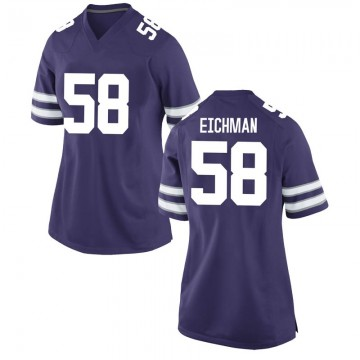 Women's Justin Eichman Kansas State Wildcats Nike Game Purple Football College Jersey