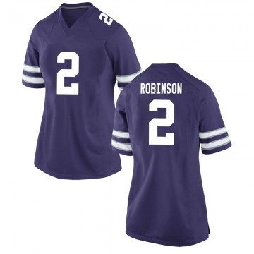 Women's Lance Robinson Kansas State Wildcats Nike Game Purple Football College Jersey