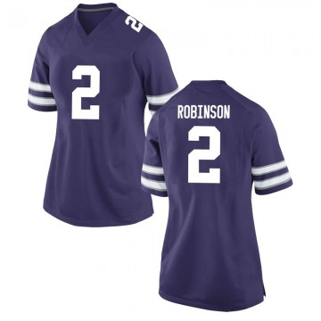 Women's Lance Robinson Kansas State Wildcats Nike Replica Purple Football College Jersey
