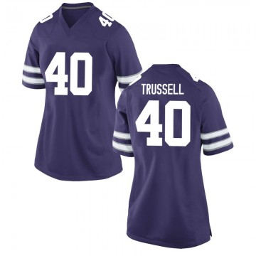 Women's Spencer Trussell Kansas State Wildcats Nike Game Purple Football College Jersey