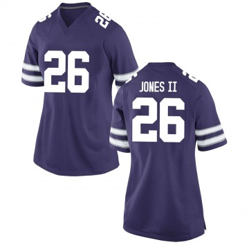 Women's Will Jones II Kansas State Wildcats Game Purple Football College Jersey