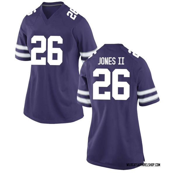 Women's Will Jones II Kansas State Wildcats Nike Game Purple Football College Jersey