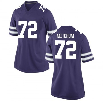 Women's Witt Mitchum Kansas State Wildcats Game Purple Football College Jersey