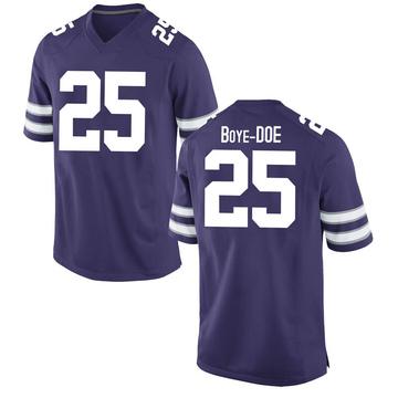 Youth Ekow Boye-Doe Kansas State Wildcats Nike Game Purple Football College Jersey