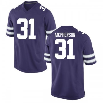 Youth Jahron McPherson Kansas State Wildcats Game Purple Football College Jersey