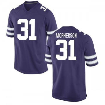 Youth Jahron McPherson Kansas State Wildcats Replica Purple Football College Jersey