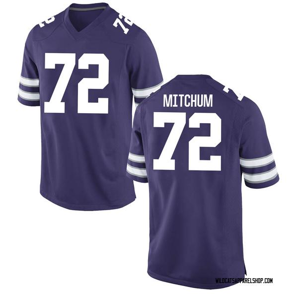 Youth Witt Mitchum Kansas State Wildcats Nike Game Purple Football College Jersey